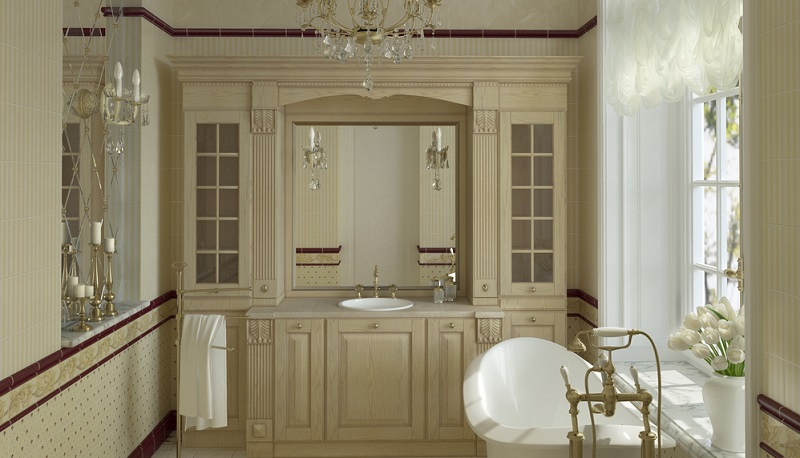 In diesem luxuriösen Badezimmer fesseln gleich mehrere Bereiche den Blick.