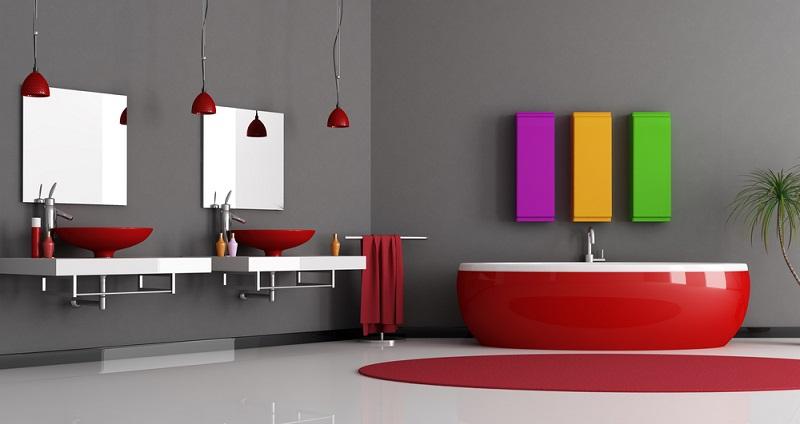 Auch dieses Badezimmer ist ein hervorragendes Beispiel dafür, dass die Zeit langweiliger Bäder längst vorbei ist.