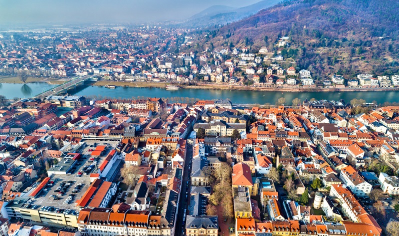 Nicht immer zeigen Luftbilder der Stadt Heidelberg nur die exponierten Gebäude.