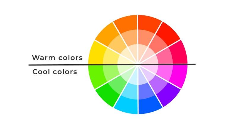 Eine Übersicht über warme und kalte Farben. (Fotolizenz-shutterstock_Oleksii Arseniuk )