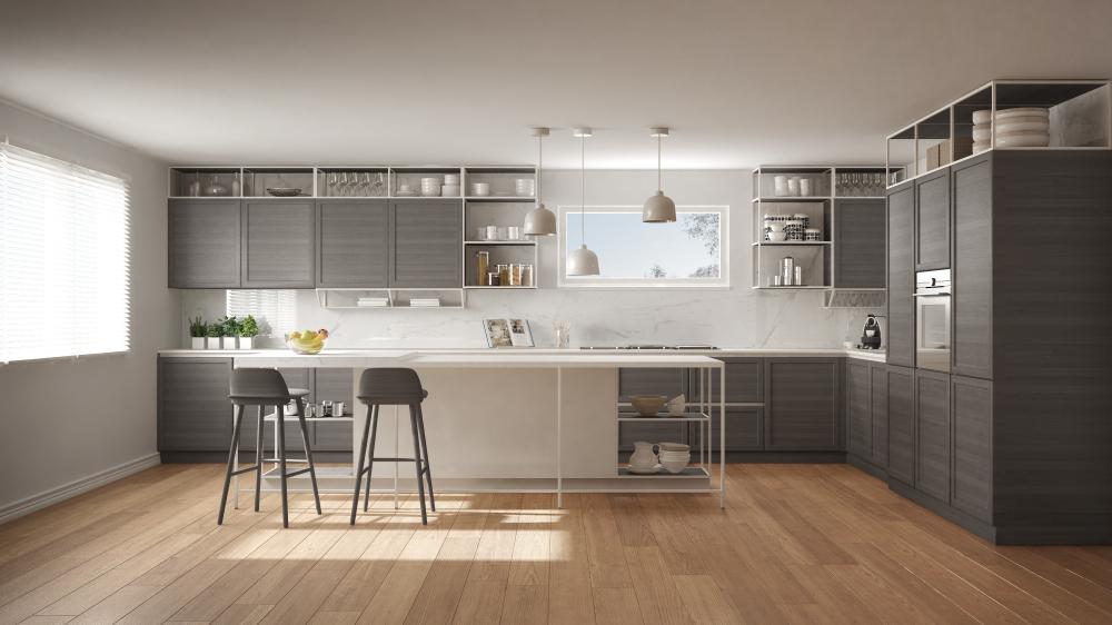 """Wenn Sie eine neue Küche kaufen, haben Sie alle Chancen, auf """"grün"""" umzustellen. Reduzieren Sie Ihre Stromrechnung mit Elektrogeräten, die so wenig Strom wie möglich verbrauchen.(Fotolizenz-Shutterstock: Archi_Viz )"""