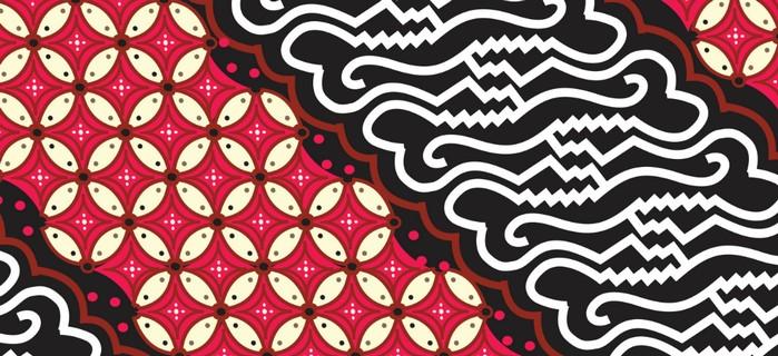 Das Batik-Motiv Parang ist sehr häufig anzutreffen. (Foto: shutterstock -  Instacraft.Studio)