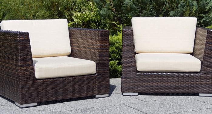 Polyrattan hat sich bei vielen Gartenmöbeln als Material durchgesetzt. Auch bei Gartenmuschel und Sonneninsel ist dieses Material immer beliebter. (Foto: shutterstock:  movit)