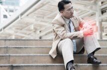 Knieschmerzen beim Treppensteigen: Vorsicht bei den ersten Anzeichen! (Foto: Shutterstock-Nattanan Zia)