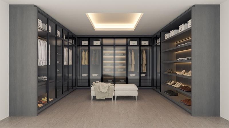 Die Kosten des Ankleidezimmers können nicht pauschal angenommen werden.  ( Foto: Shutterstock-_LEKSTOCK 3D  )