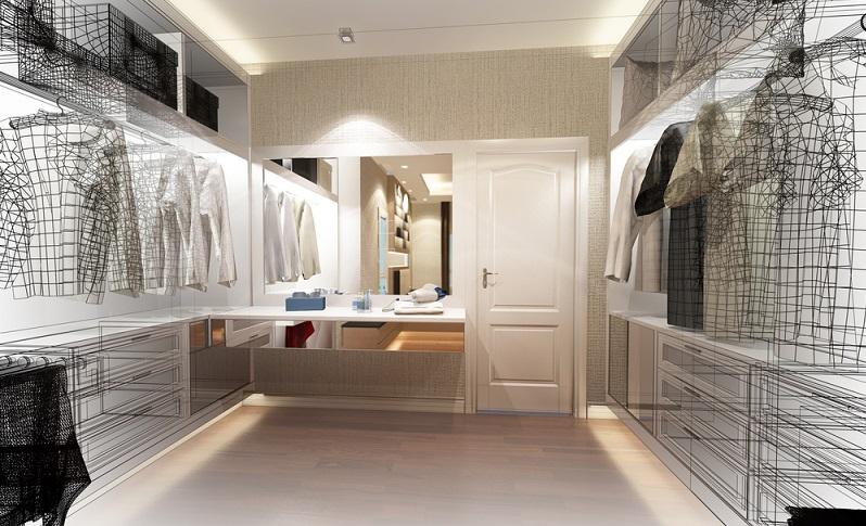 Die einen sagen, ein Ankleidezimmer mit offenen Schränken sieht deutlich luxuriöser aus und präsentiert schon beim Betreten die riesige Auswahl.  ( Foto: Shutterstock- Suwatchai Pluemruetai )