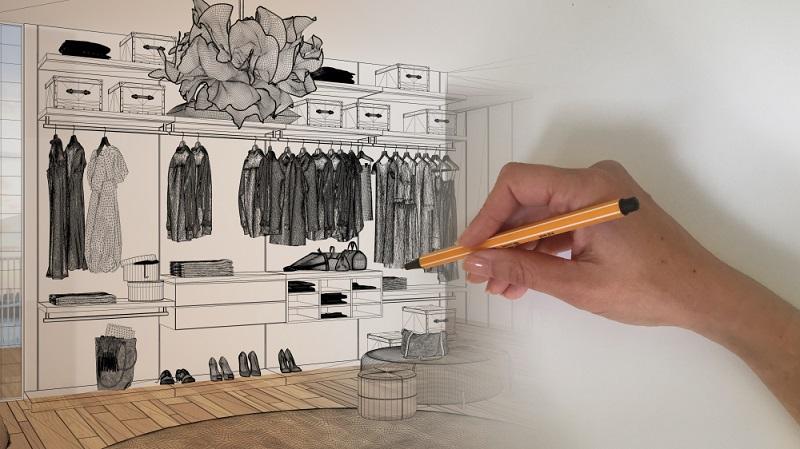 Von wegen, ein Ankleidezimmer ist nur der Luxus der Reichen und Schönen! Längst haben sich Ankleidezimmer auch in weniger gut situierten Haushalten etabliert, denn ihre Vorteile sind unschlagbar. ( Foto: Shutterstock-Archi_Viz )
