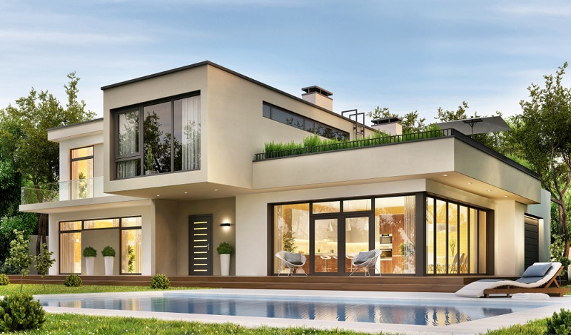 Ein Luxus Haus besteht aus vielen Details.  ( Foto: Shutterstock-Slavun )