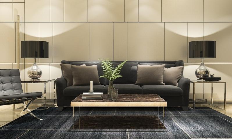Ein wirkliches Luxus Haus besitzt daher eine Lobby, die gut genug ausgestattet ist, um hier auch längere Besprechungen abzuhalten oder sogar ein geschäftliches Meeting anzuberaumen. ( Foto: Shutterstock- Beyond Time)
