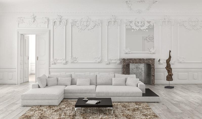 Auch die Wände stehen für puren Luxus und sollten in einer echten Luxus-Wohnung hochwertig gestaltet werden.  ( Foto: Shutterstock-PlusONE )