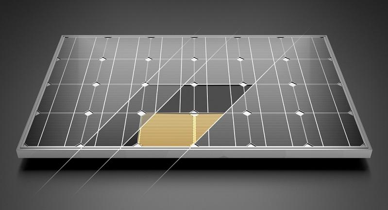 Dünnschichtmodule:  Die Größe der Trägerscheibe gibt die Modulgröße vor. ( Foto: Shutterstock- Iaremenko Sergii)